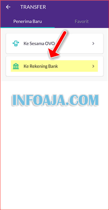 Transfer ke Rekening Bank