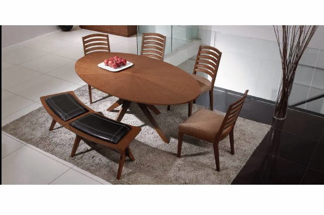 Oval Dining Settee 6 5 Conan D Table 4 Janet Chair 1 Bench Coco Color