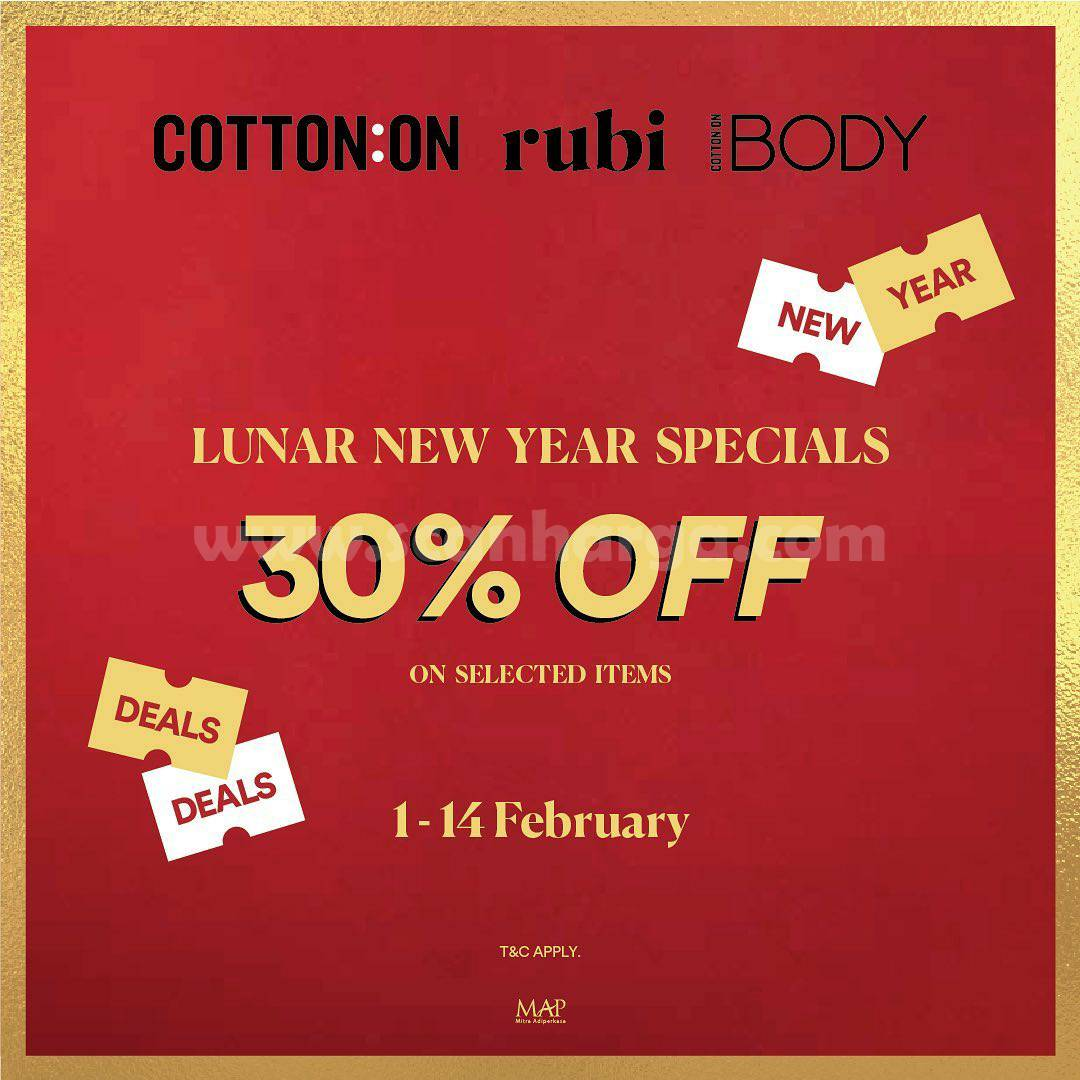 Promo RUBI Special Lunar New Year Sale! Disc. 30% off