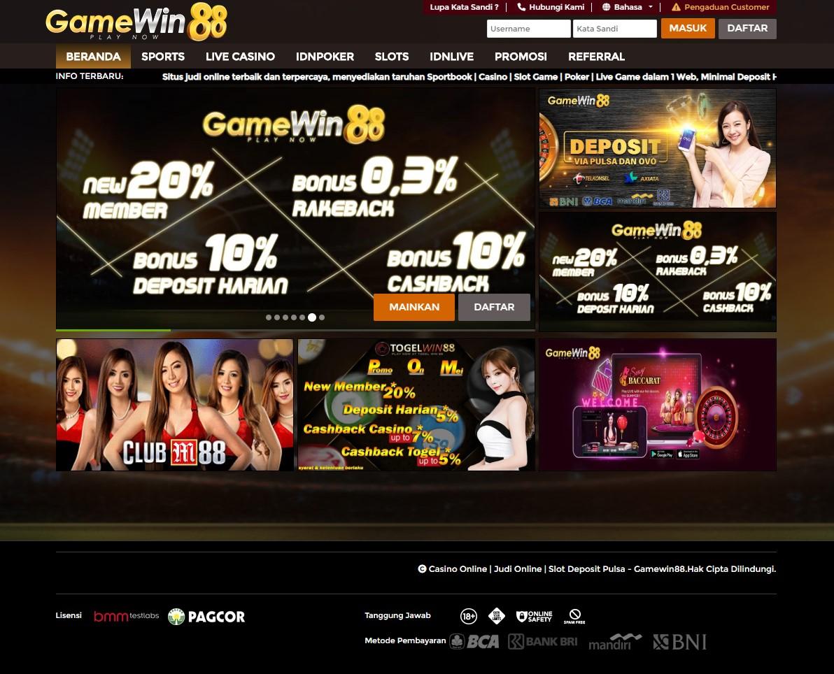 Casino Online | Judi Online | Slot Deposit Pulsa - Gamewin88
