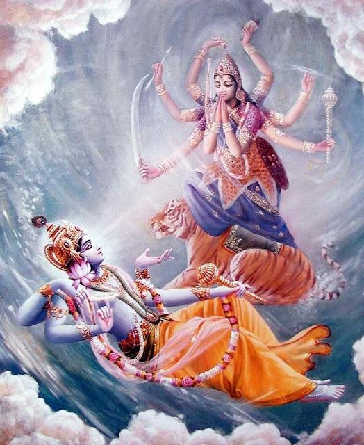 Lord Vishnu and Nithradevi