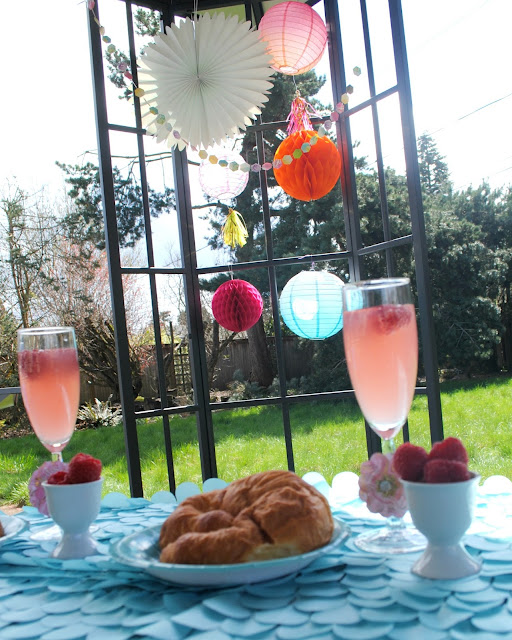 Easter brunch doesn't have to be hard. Make it easy by serving up bakery croissants, fresh fruit and champagne. More ideas at FizzyParty.com