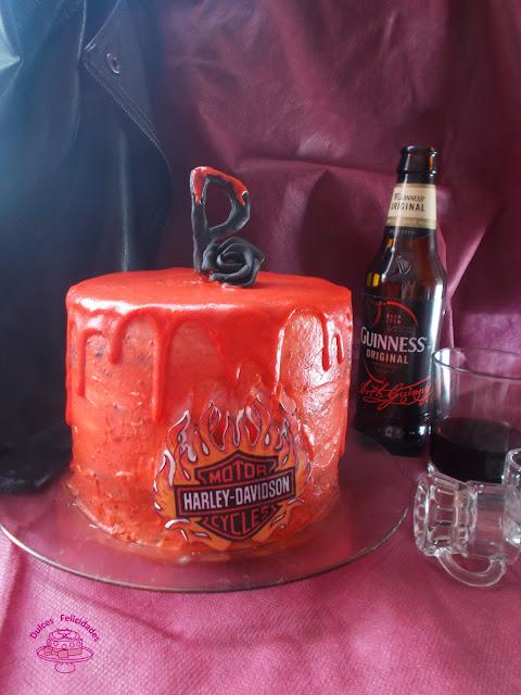 Guinness layer cake Harley Davidson