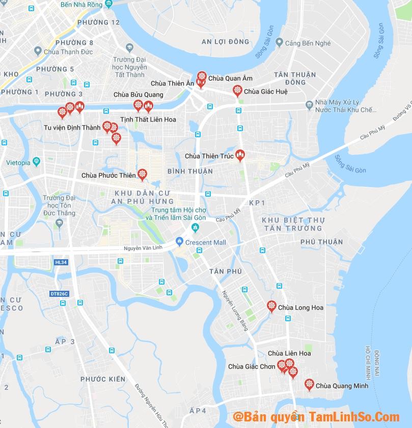 Quận 7 có nhiều chùa đẹp và nổi tiếng tại Sài Gòn