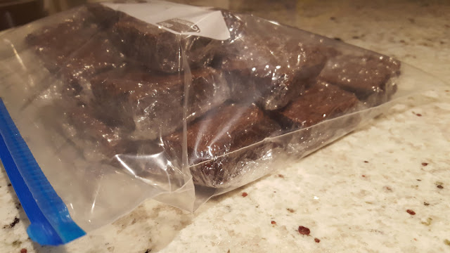 Brownies Packaged for Freezing