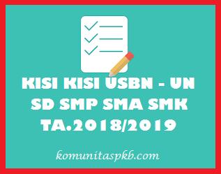 Kisi - Kisi USBN SMP MTS Tahun Ajaran 2018/2019