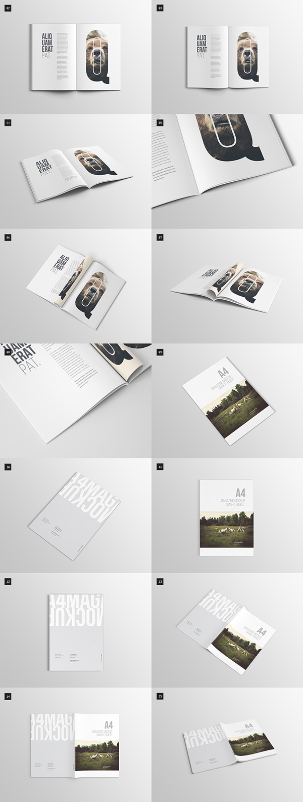 Download Gratis Mockup Majalah, Brosur, Buku, Cover - A4 Magazine Mock-up
