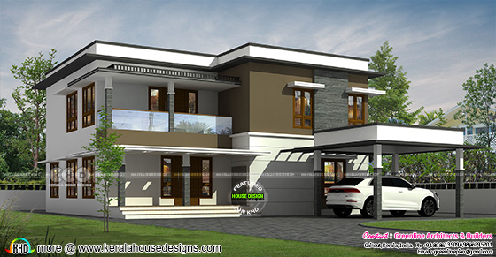 Simple style box model contemporary home