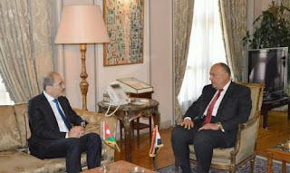 وزير الخارجية المصري والأردني يناقشان استئناف محادثات السلام الإسرائيلية الفلسطينية