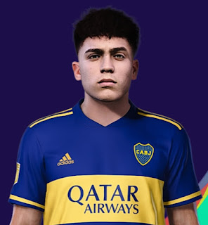 PES 2021 Faces Exequiel Zeballos by Diego