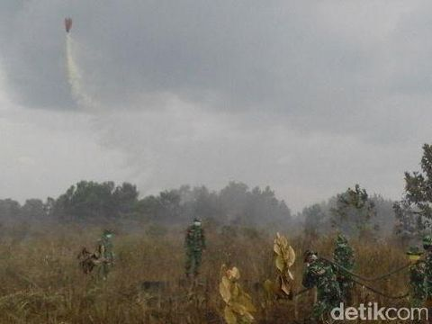 Lahan Gambut Terbakar Lagi, TNI AD Kerahkan Heli untuk Water Bombing