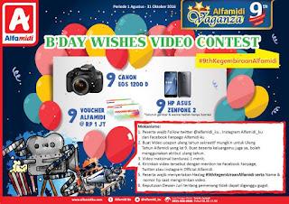 Kontes Video B'day Wishes Video Contest Alfamidi