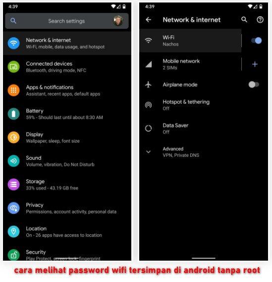 cara melihat password wifi tersimpan di android tanpa root