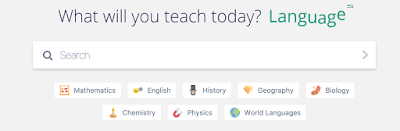 picture of the quizizz search bar