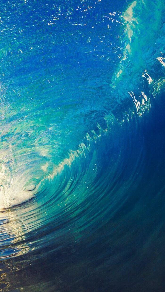 wallpaper iPhone, sfondi per smartphone, oceano, acqua, onda