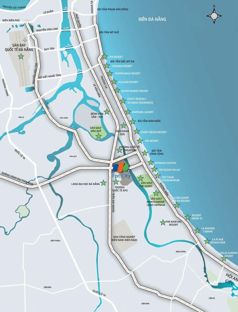 vị trí dự án fpt city đà nẵng
