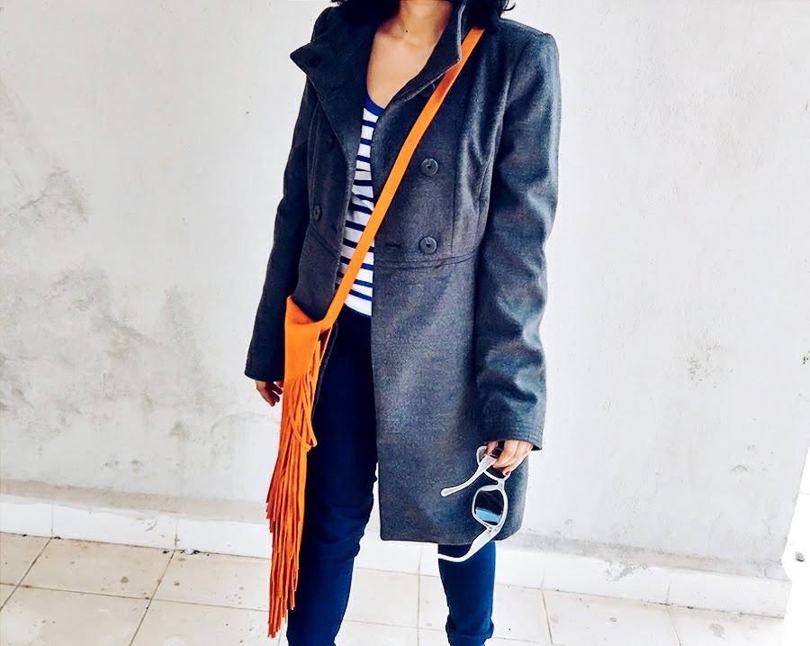 jeans ,coat ,m&s cobalt stripe top