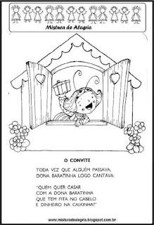 Livro história de D.Baratinha colorir