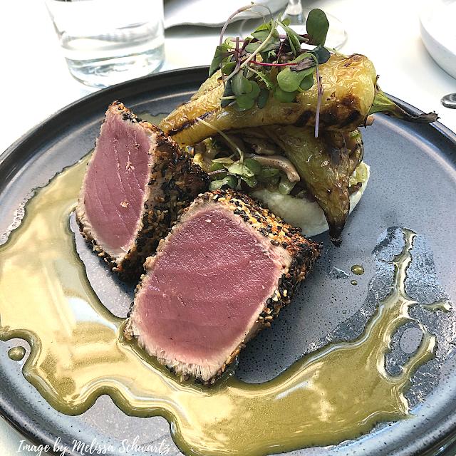 The sesame crusted Ahi Tuna at Mesa Urbana will make your palate sing!