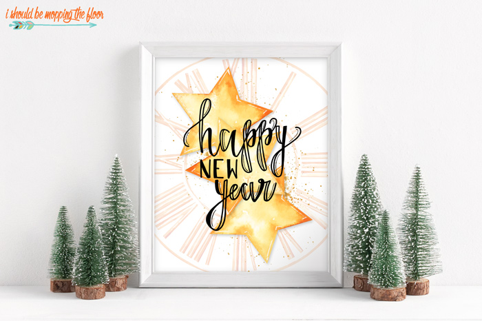 New Year's Printable Cards