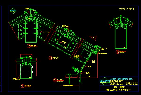 plan charpente metallique dwg