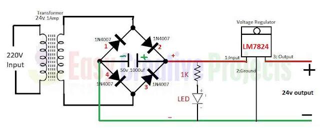 24v power supply circuit diagram