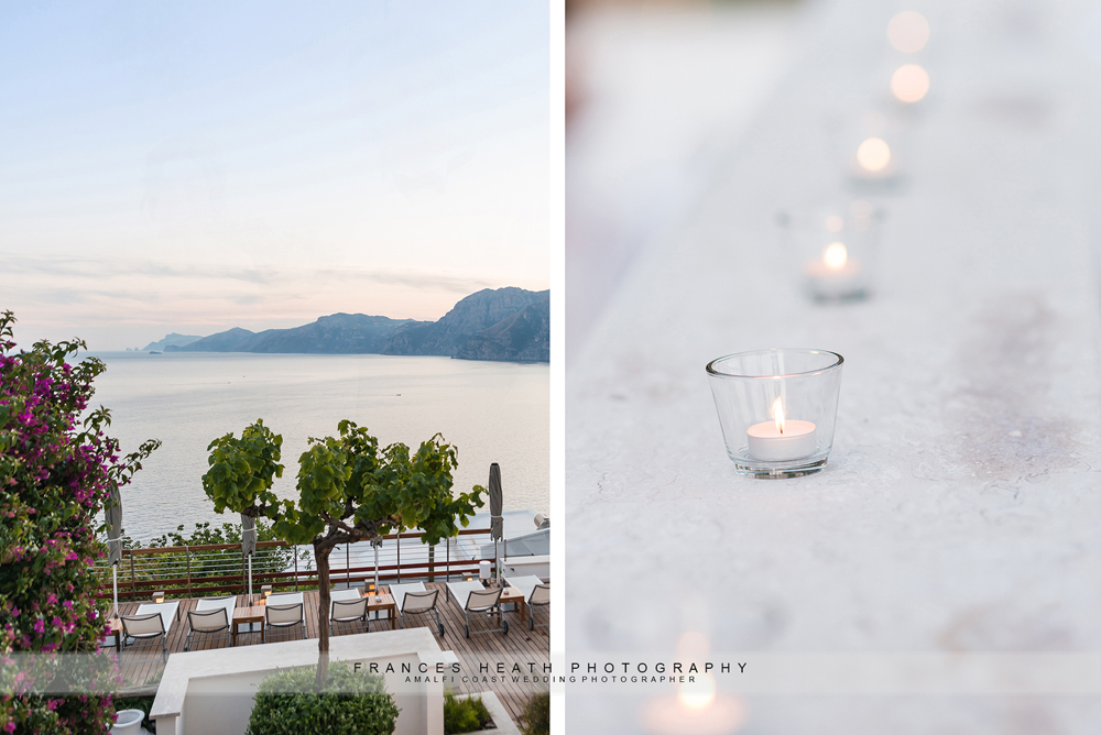 Amalfi coast wedding view