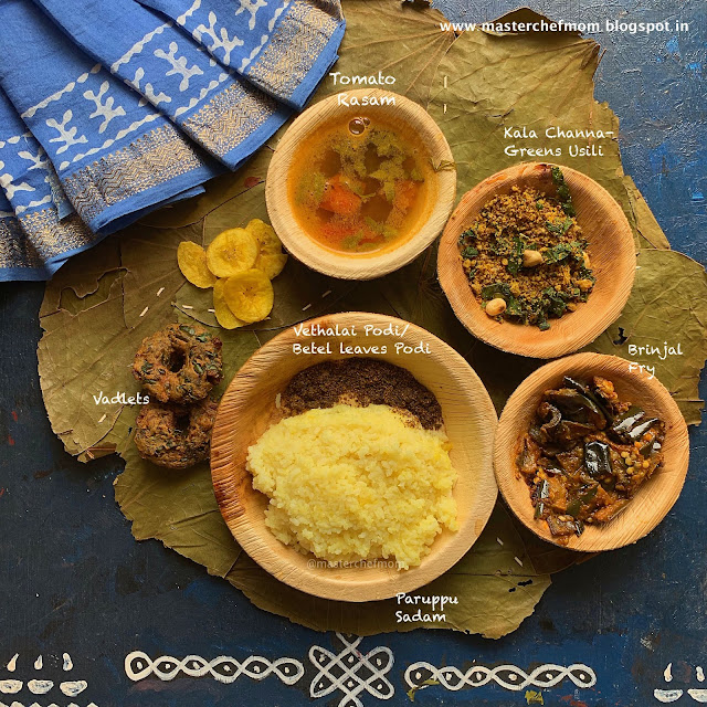 Turnip And Radish Greens Thali