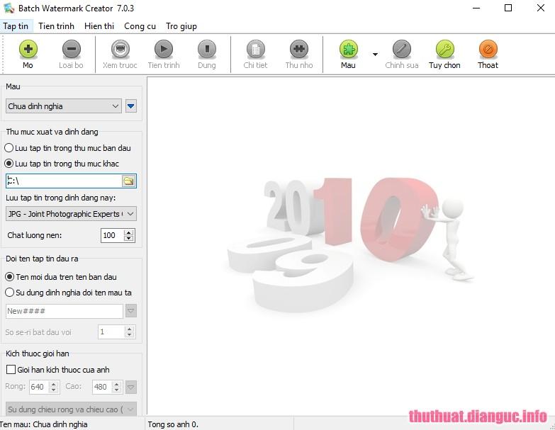 Download Batch Watermark Creator 7.0.3 việt hóa – Đóng dấu ảnh hàng loạt
