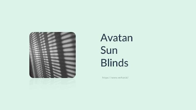 avatan sun blinds effek