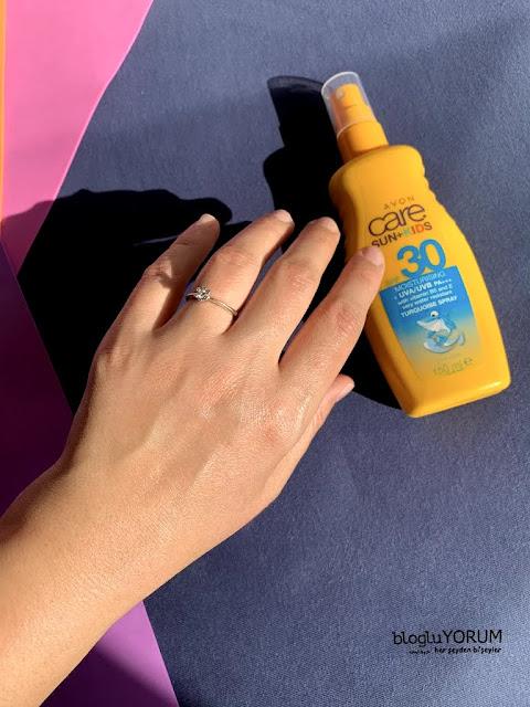 avon care sun kids spf 30 çocuklar için güneş kremi swatch