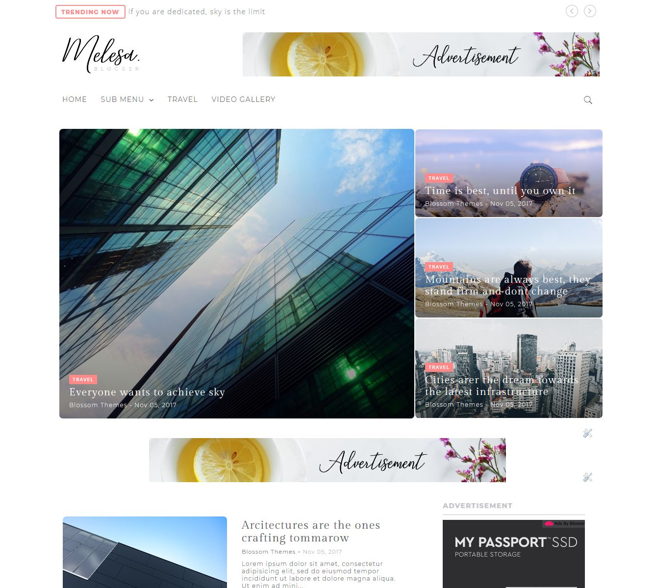Melesa Blogger Theme