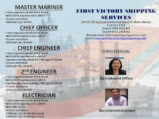 available seaman career for Filipino crew work at bulk carrier ships joining
