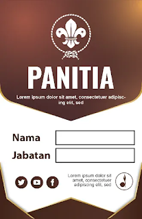 Download Kumpulan Contoh Name Tag Pramuka Microsoft Word  Dan Powerpoint Gratis