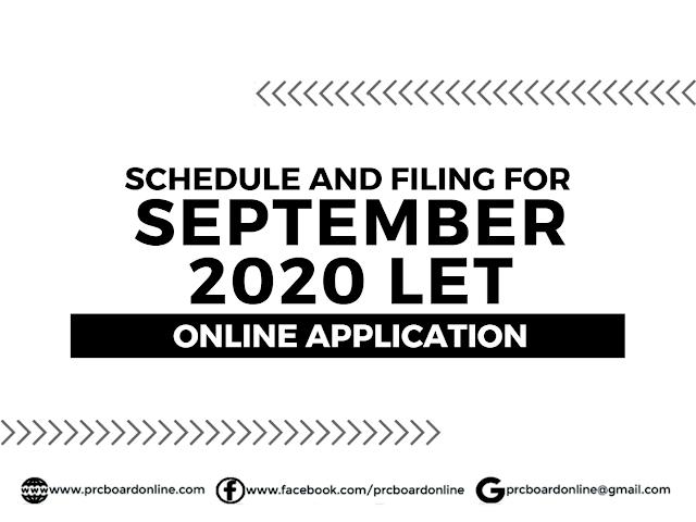 LET Online Application for September 2020 Exam