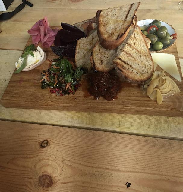 Water Lane Boathouse menu tasting vegetarian sharing platter