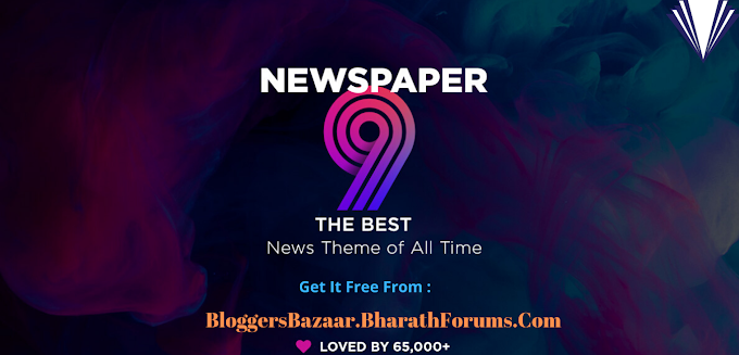 Newspaper 9 Responsive Blogger Template [100% Free] Download 🔥🔥🔥