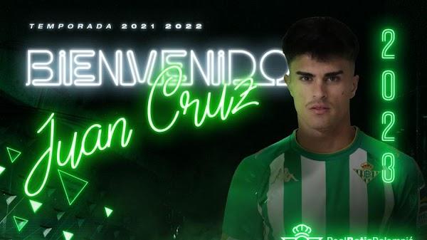 Oficial: El Betis firma hasta 2023 a Juan Cruz
