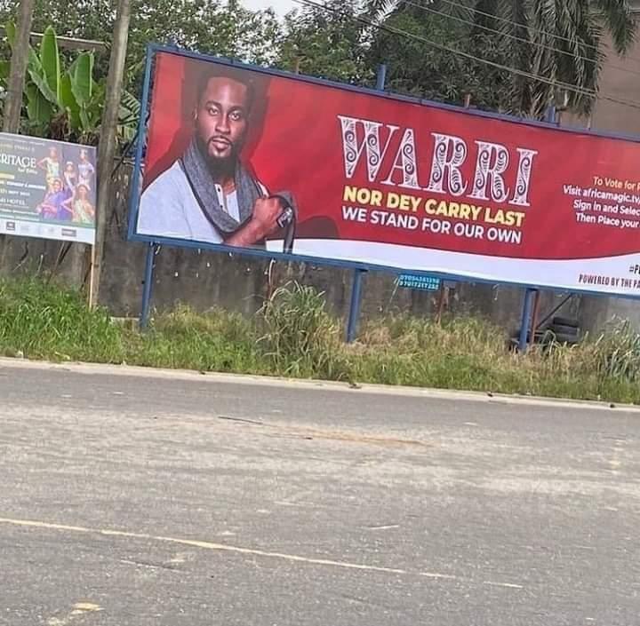 BBNaija: Big Tension as the entire city of Warri endorses Pere for the 90 Million
