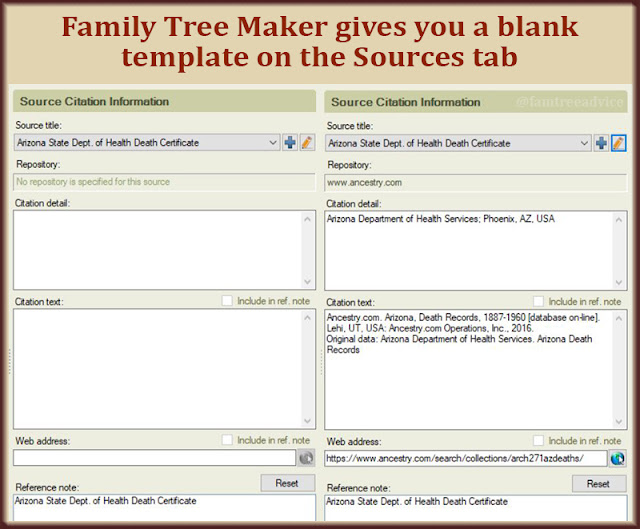 Once I found the citation detail and citation text on Ancestry.com, it became too easy not to do.