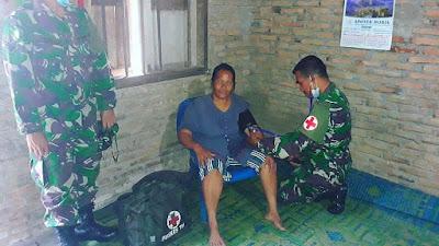 Yankes Mobile Satgas TMMD Kodim 0204/DS, Solusi Kesehatan Warga Pelosok Desa