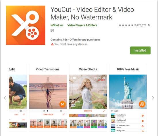 برنامج تعديل الفيديو على الموبايل دون حقوق