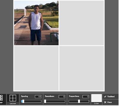 Fazer calagem de fotos online