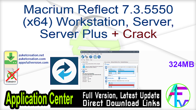 Macrium Reflect 7.3.5550 (x64) Workstation, Server, Server Plus + Crack