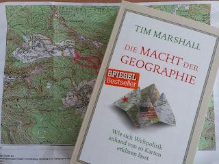 Macht der Geographie auf Landkarten