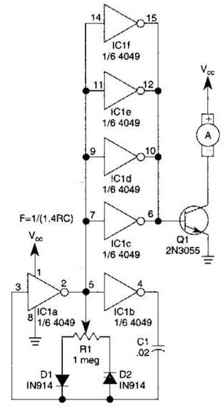 simple pwm motor drive circuit diagram