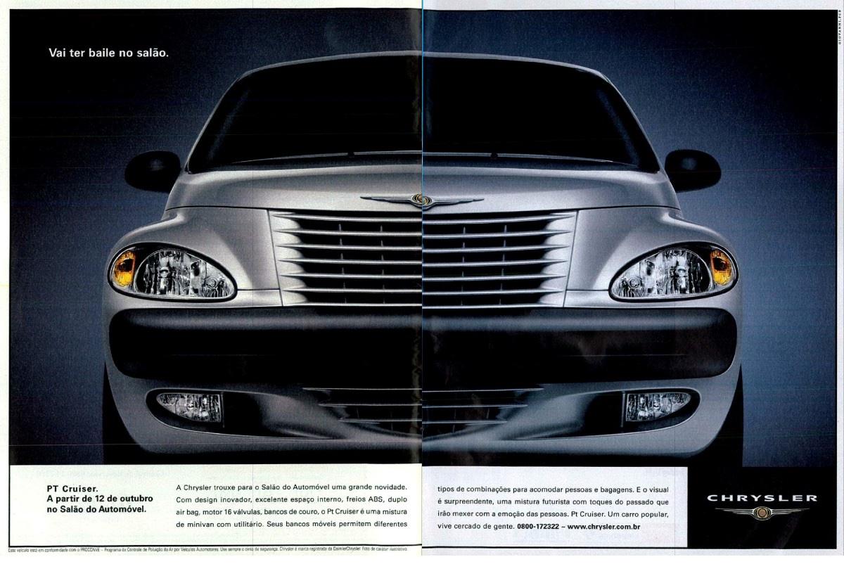 Anúncio da Chrysler veiculado no ano 2000 promovendo o PT Cruiser