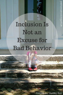 Inclusion Is Not an Excuse for Bad Behavior; Removing the Stumbling Block