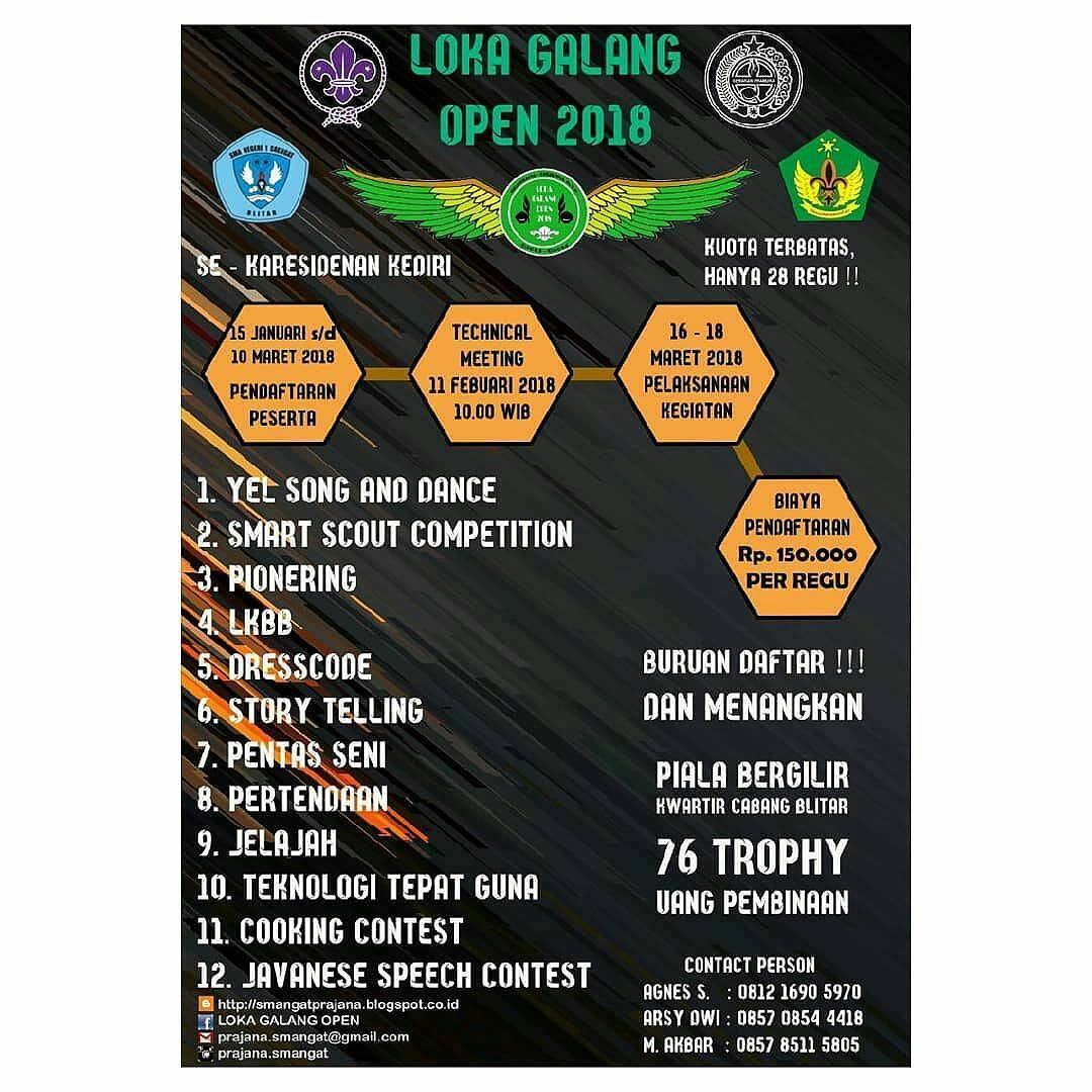 Lomba Pramuka Loka Galang Open 2018 Se Karasidenan Kediri Aneka Badge Regu Penggalang
