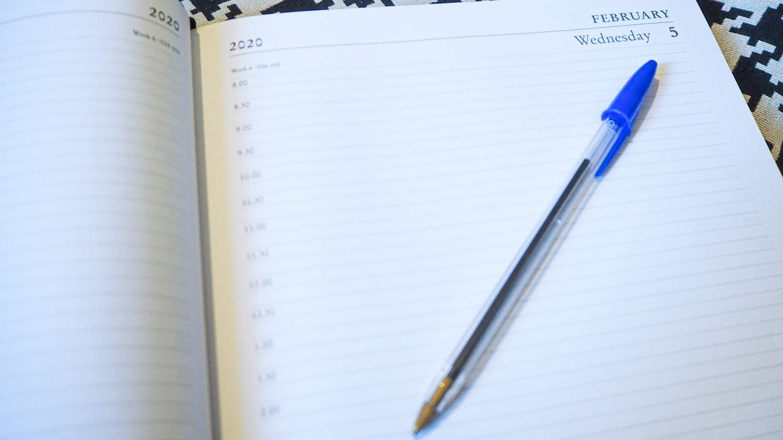 Scheduling in a diary
